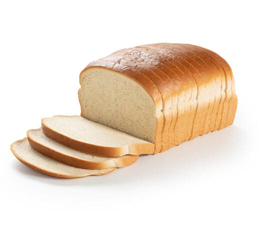 A white bread loaf